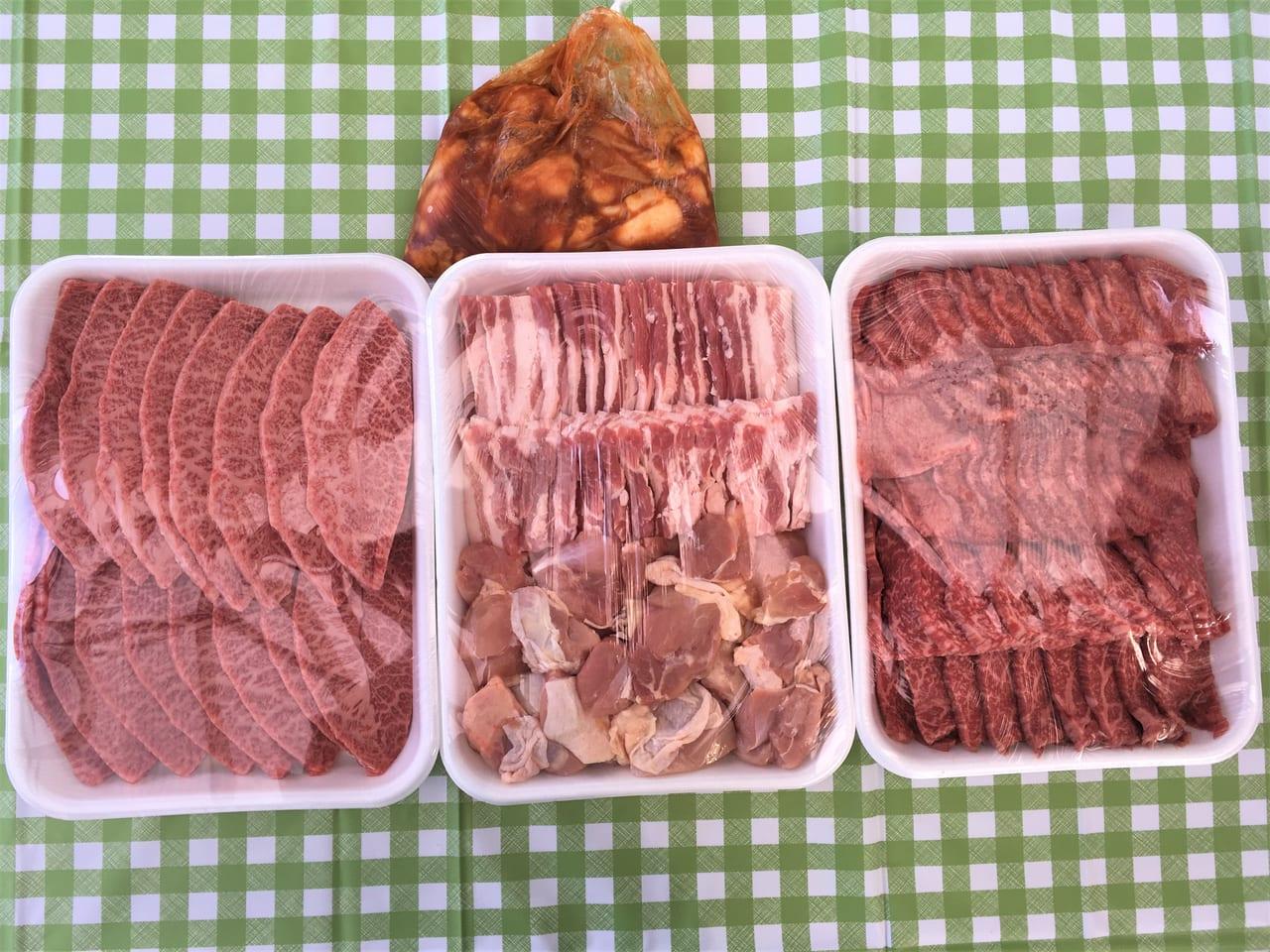 肉の長良で買ったバーベキューの肉