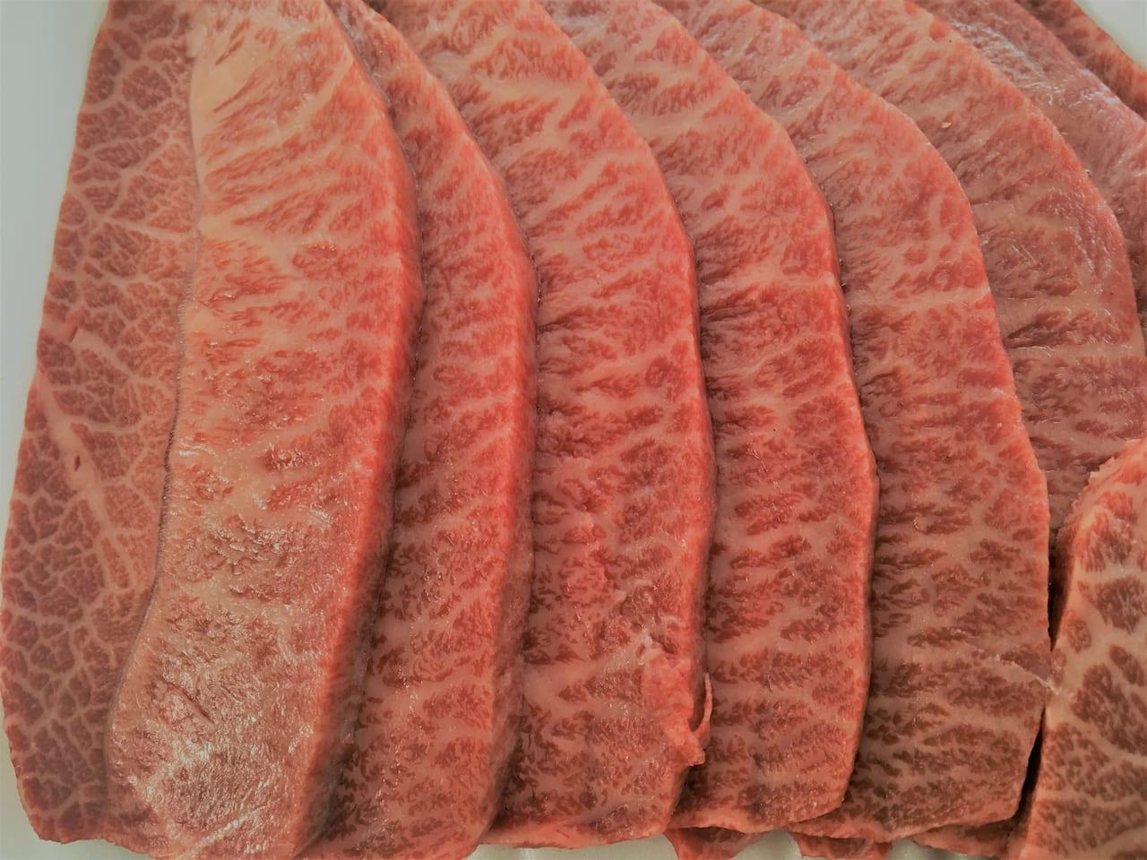 肉の長良で買ったバーベキューの肉(みすじのアップ)