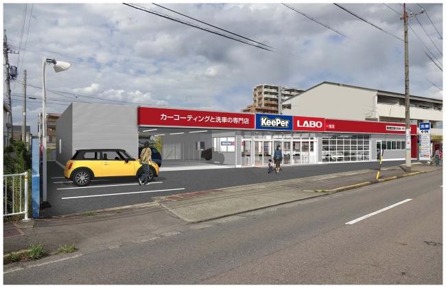 キーパーラボ一宮店の設計図
