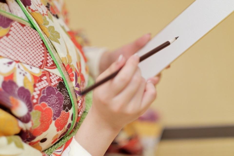 プレバトの俳句、夏井先生が俳句を書くイメージ