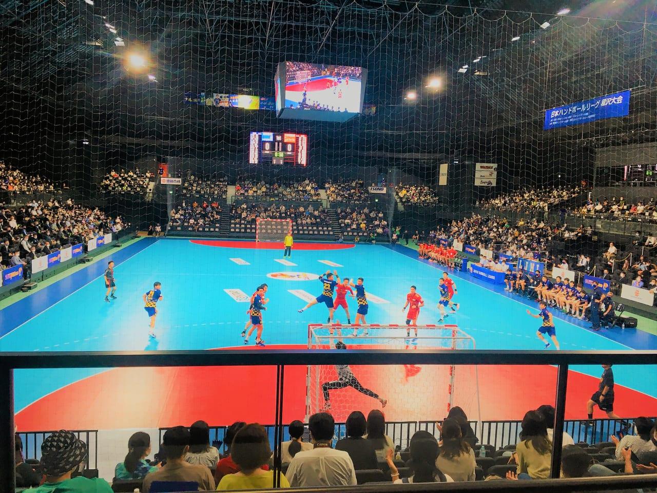 豊田合成記念体育館エントリオで行われた豊田合成ブルーファルコンの試合