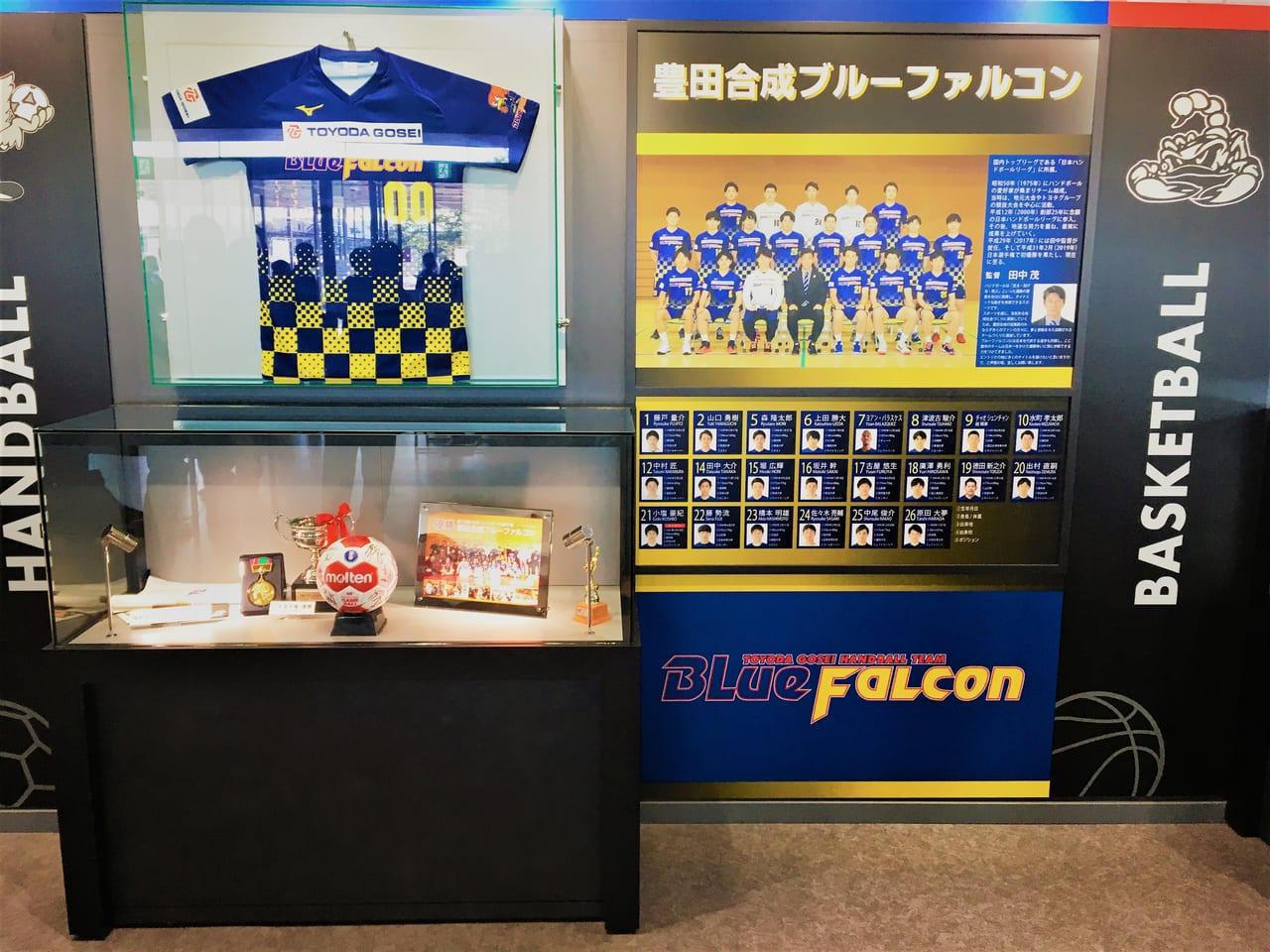豊田合成記念体育館エントリオの中の内装