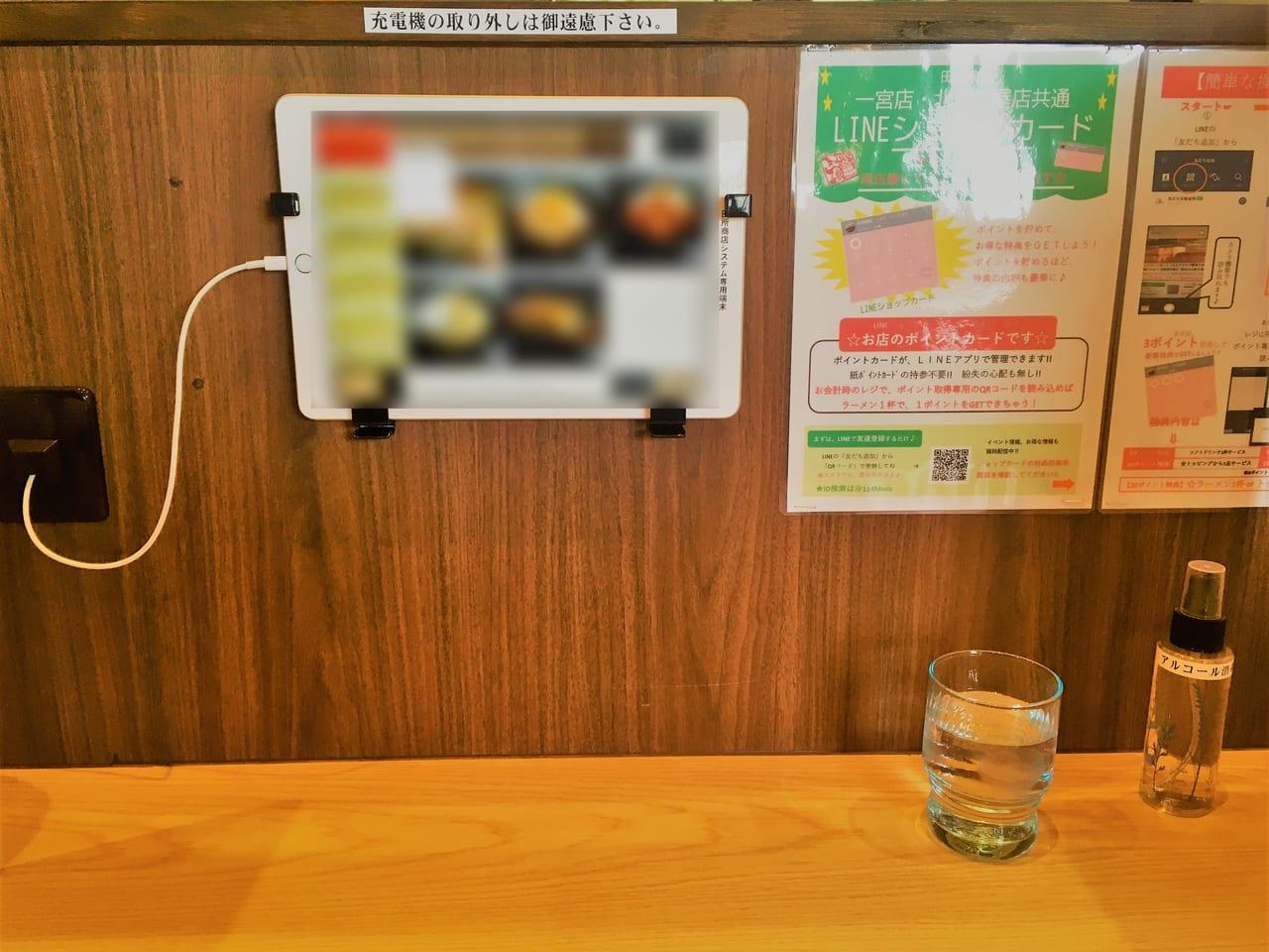 麺場 田所商店のカウンター席