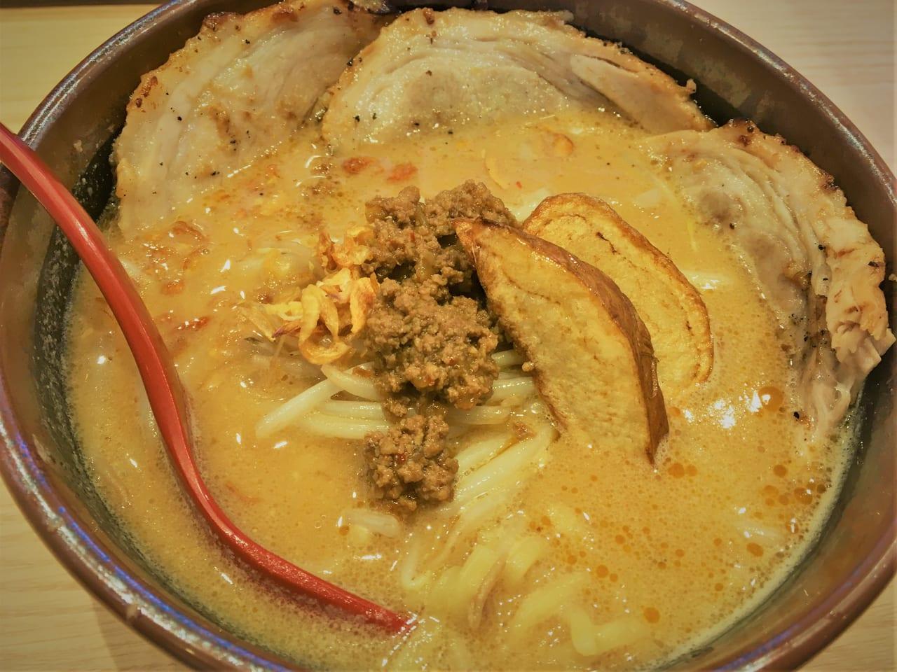 麺場 田所商店のラーメン(北海道味噌 炙りチャーシュー麺)