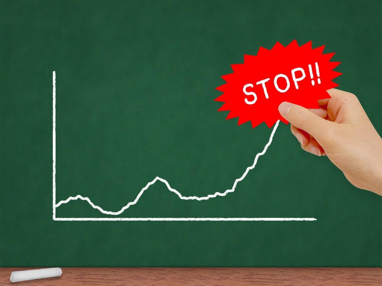 コロナのグラフのイメージ