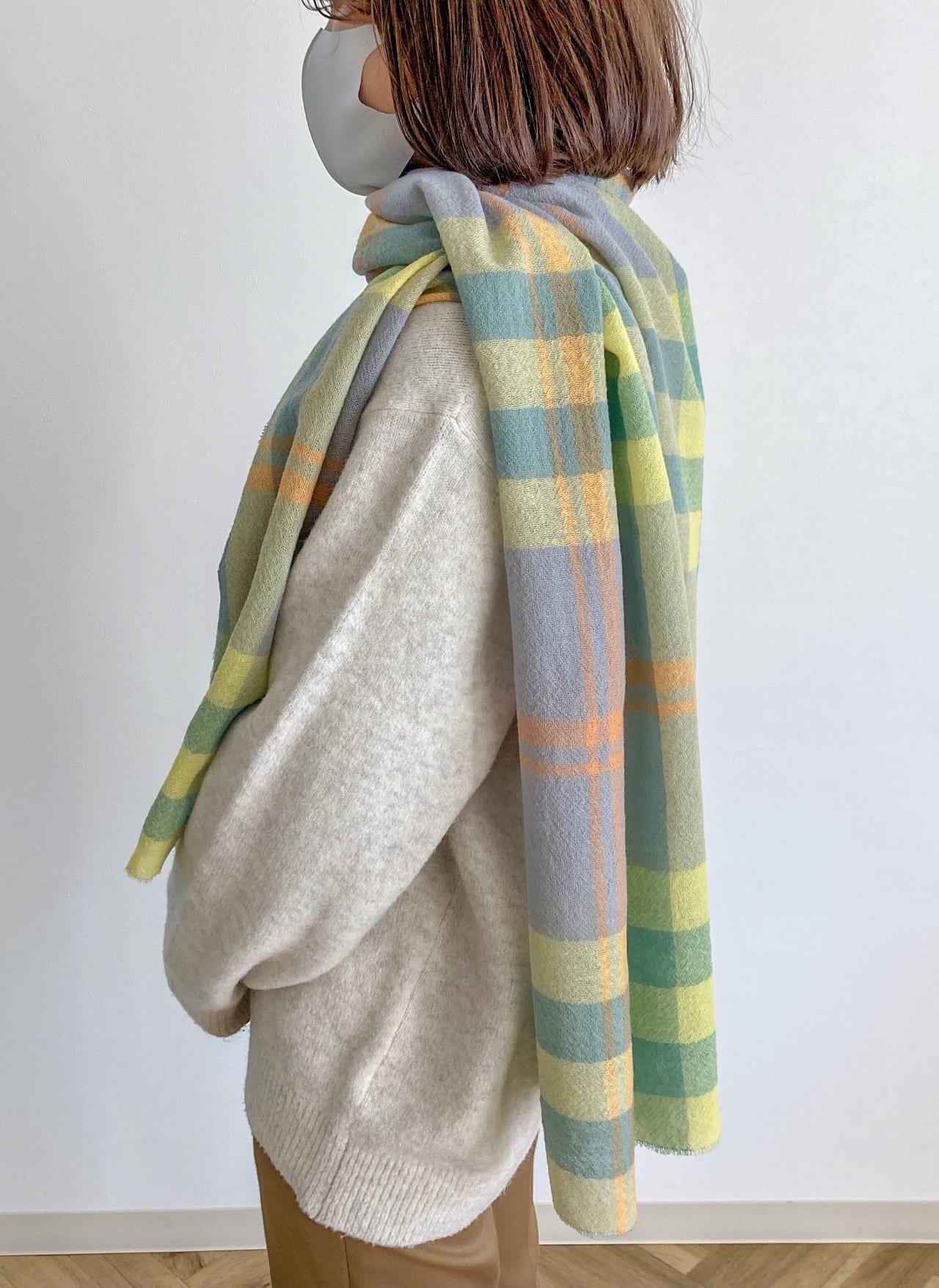 尾州織りのショール