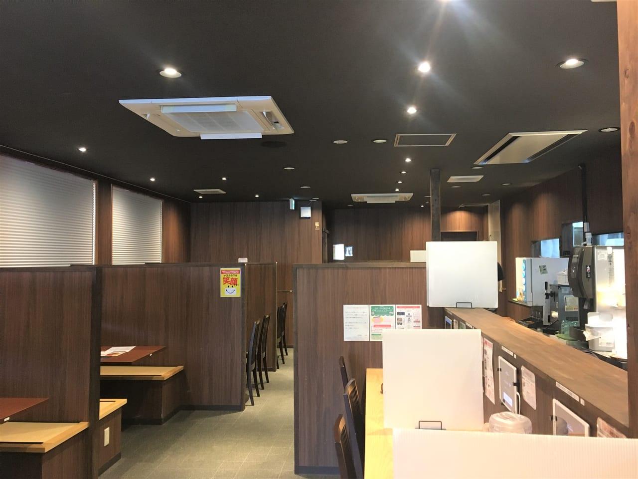 麺場田所商店の内装