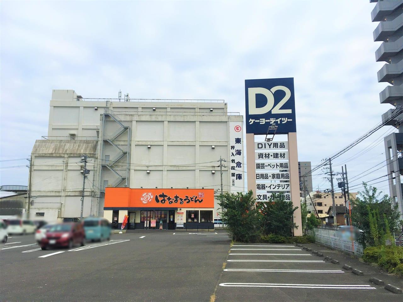 ケーヨーデイツー一宮八幡店の駐車場