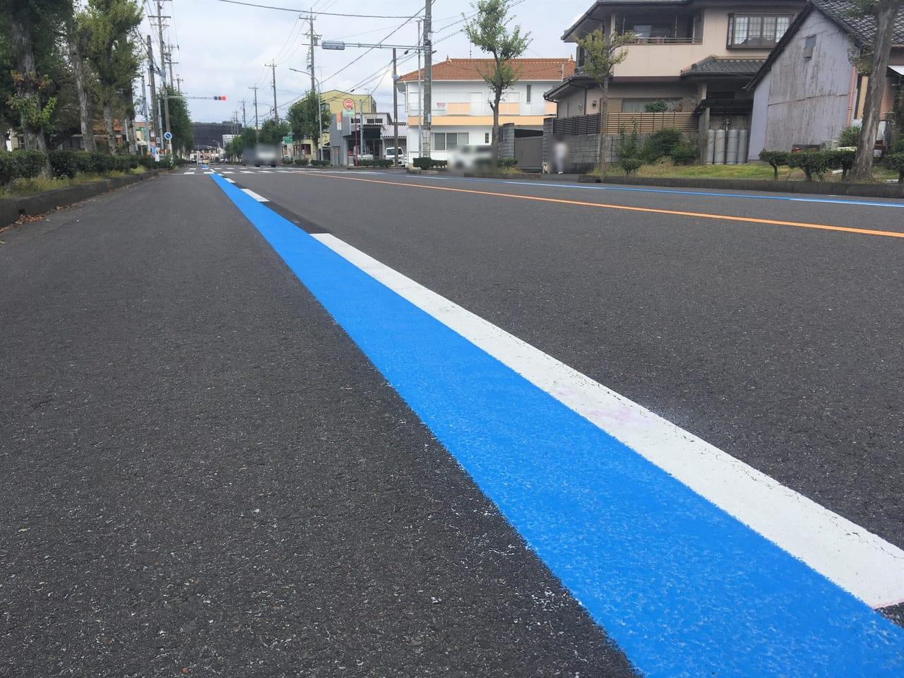 一宮市初となる自転車専用通行帯